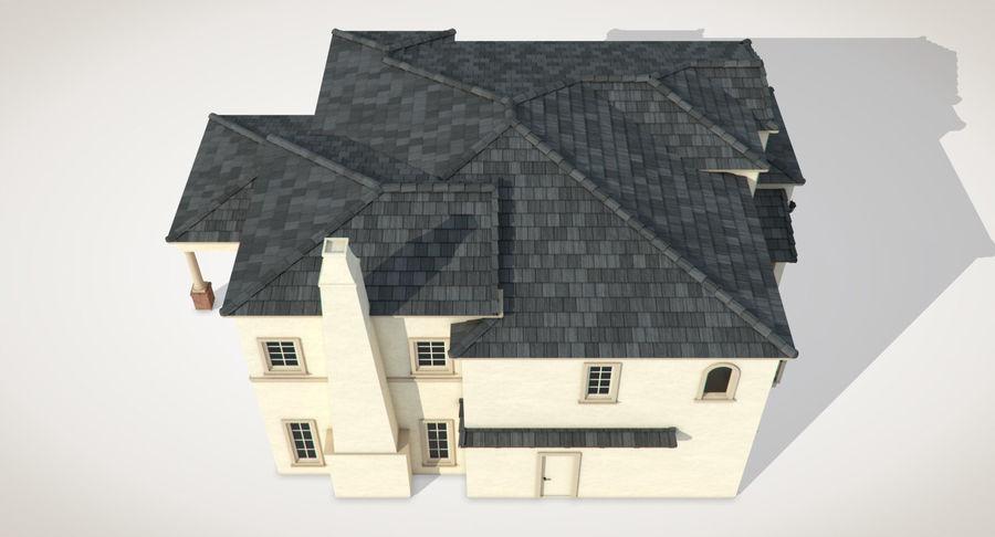 Dom na przedmieściach 01 royalty-free 3d model - Preview no. 9