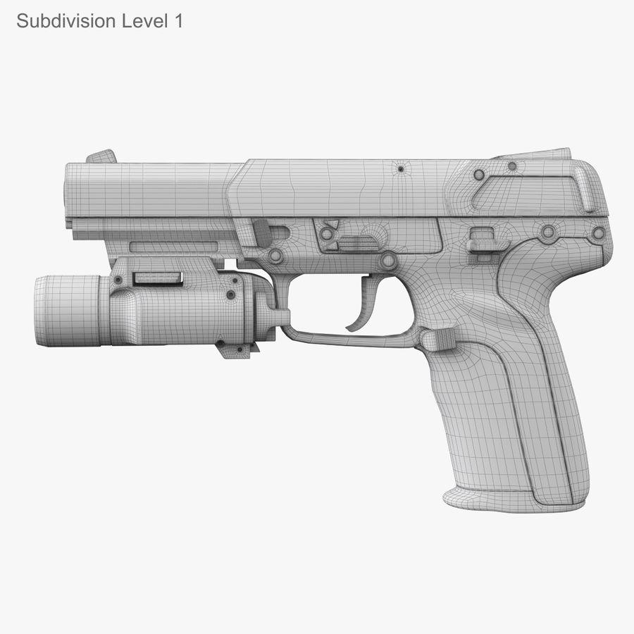 Пистолет FN Five-seveN royalty-free 3d model - Preview no. 24