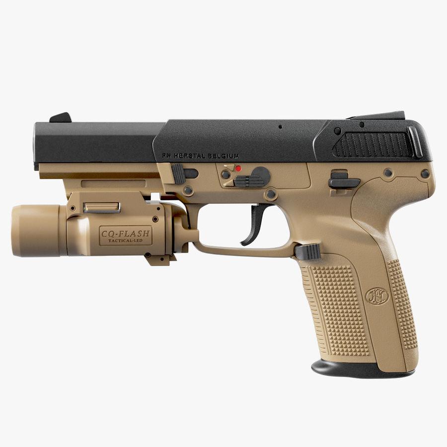 Пистолет FN Five-seveN royalty-free 3d model - Preview no. 9