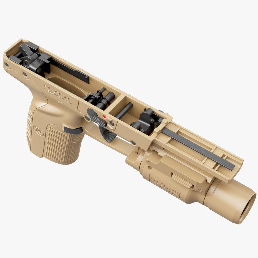 Пистолет FN Five-seveN royalty-free 3d model - Preview no. 10