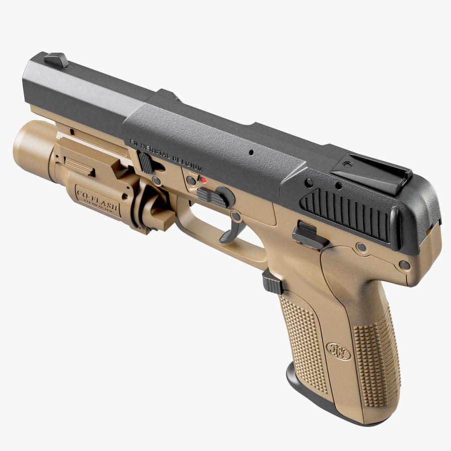 Пистолет FN Five-seveN royalty-free 3d model - Preview no. 11