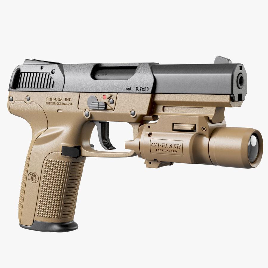 Пистолет FN Five-seveN royalty-free 3d model - Preview no. 1