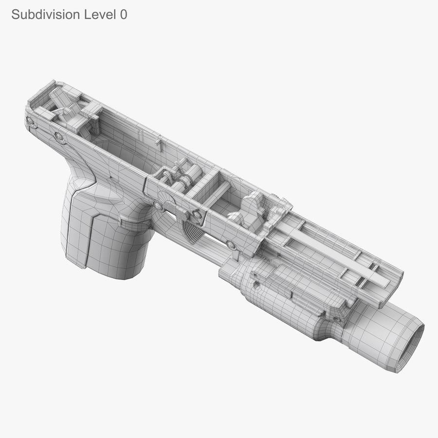 Пистолет FN Five-seveN royalty-free 3d model - Preview no. 19