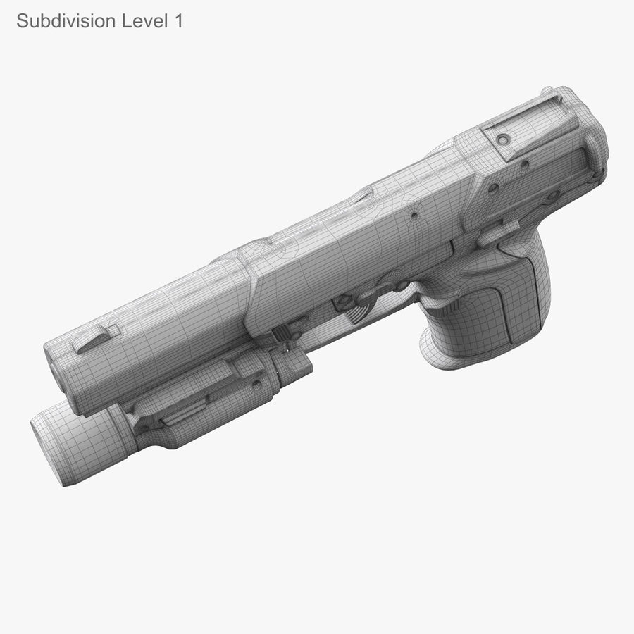 Пистолет FN Five-seveN royalty-free 3d model - Preview no. 23