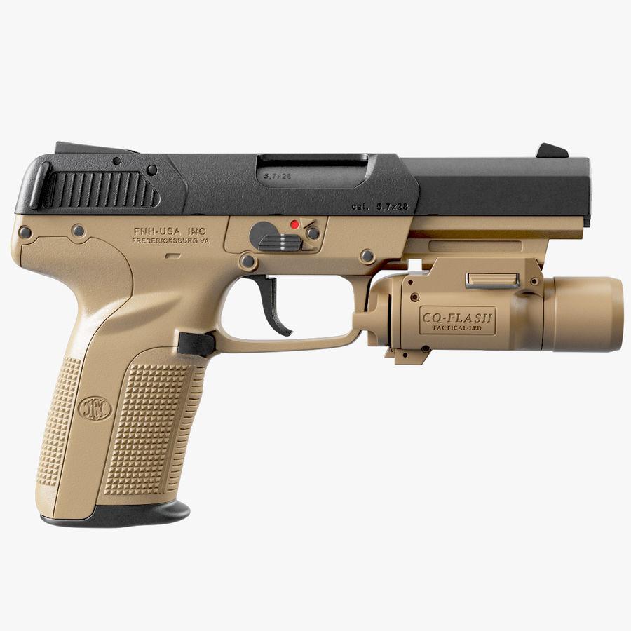 Пистолет FN Five-seveN royalty-free 3d model - Preview no. 6