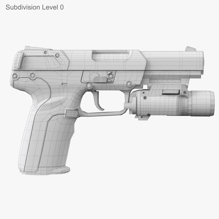 Пистолет FN Five-seveN royalty-free 3d model - Preview no. 14