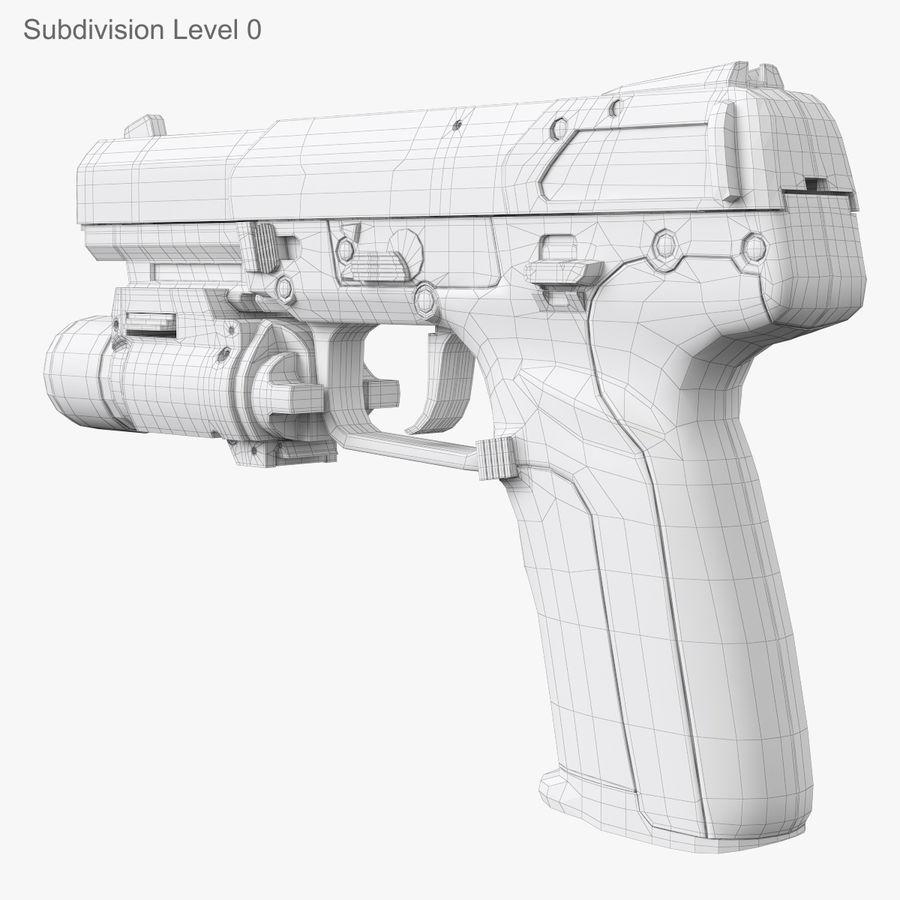 Пистолет FN Five-seveN royalty-free 3d model - Preview no. 13