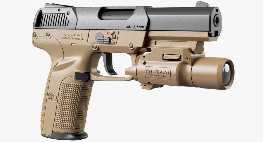 Пистолет FN Five-seveN royalty-free 3d model - Preview no. 2