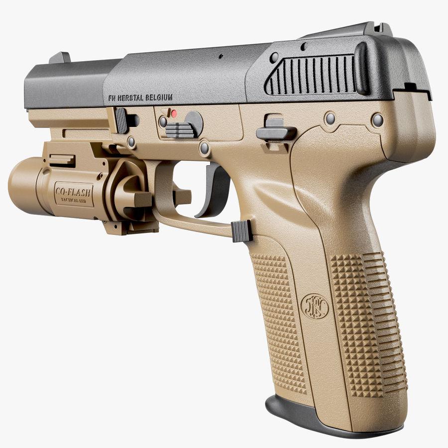 Пистолет FN Five-seveN royalty-free 3d model - Preview no. 5