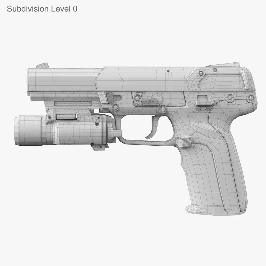 Пистолет FN Five-seveN royalty-free 3d model - Preview no. 16