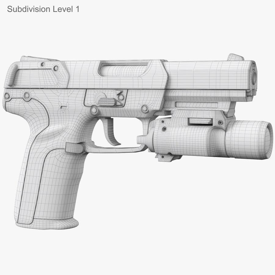 Пистолет FN Five-seveN royalty-free 3d model - Preview no. 20
