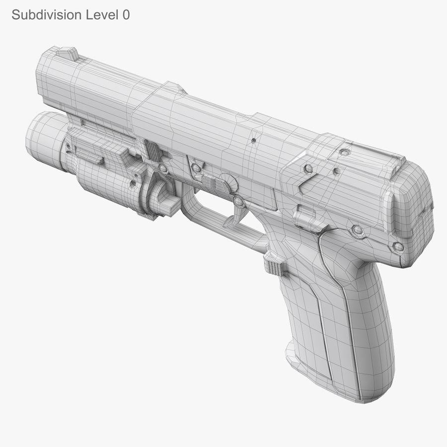 Пистолет FN Five-seveN royalty-free 3d model - Preview no. 17
