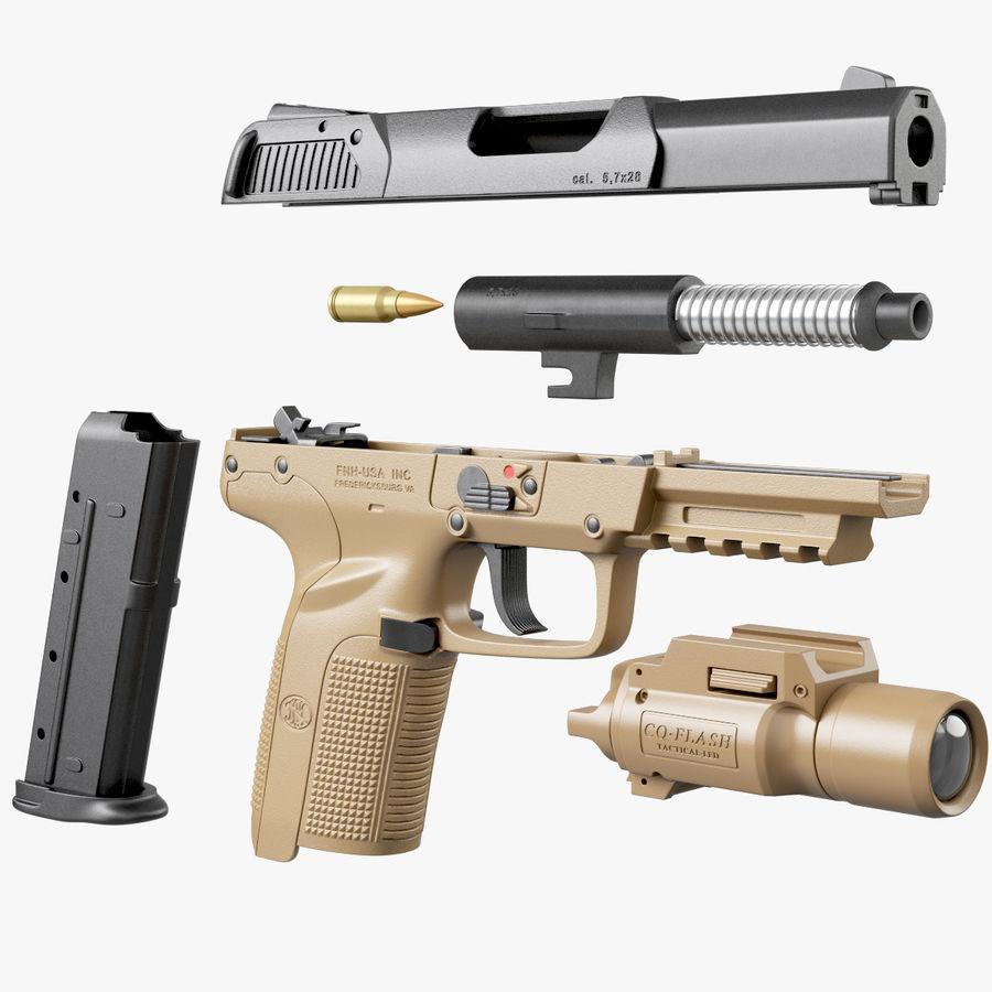 Пистолет FN Five-seveN royalty-free 3d model - Preview no. 8
