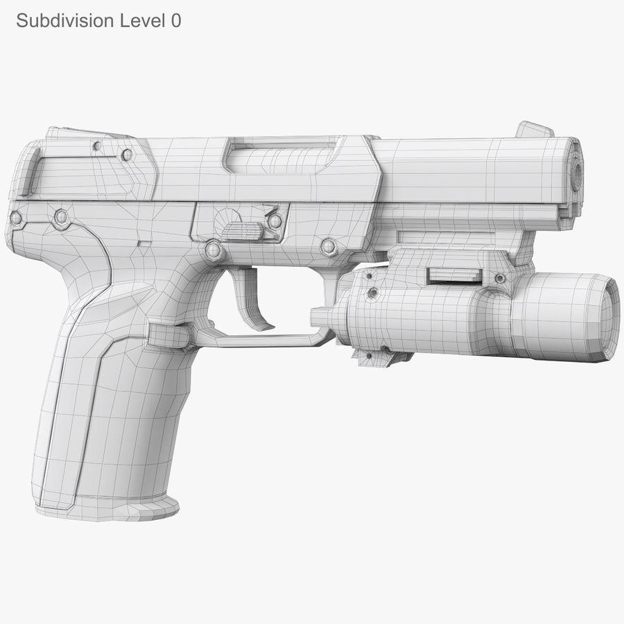 Пистолет FN Five-seveN royalty-free 3d model - Preview no. 12