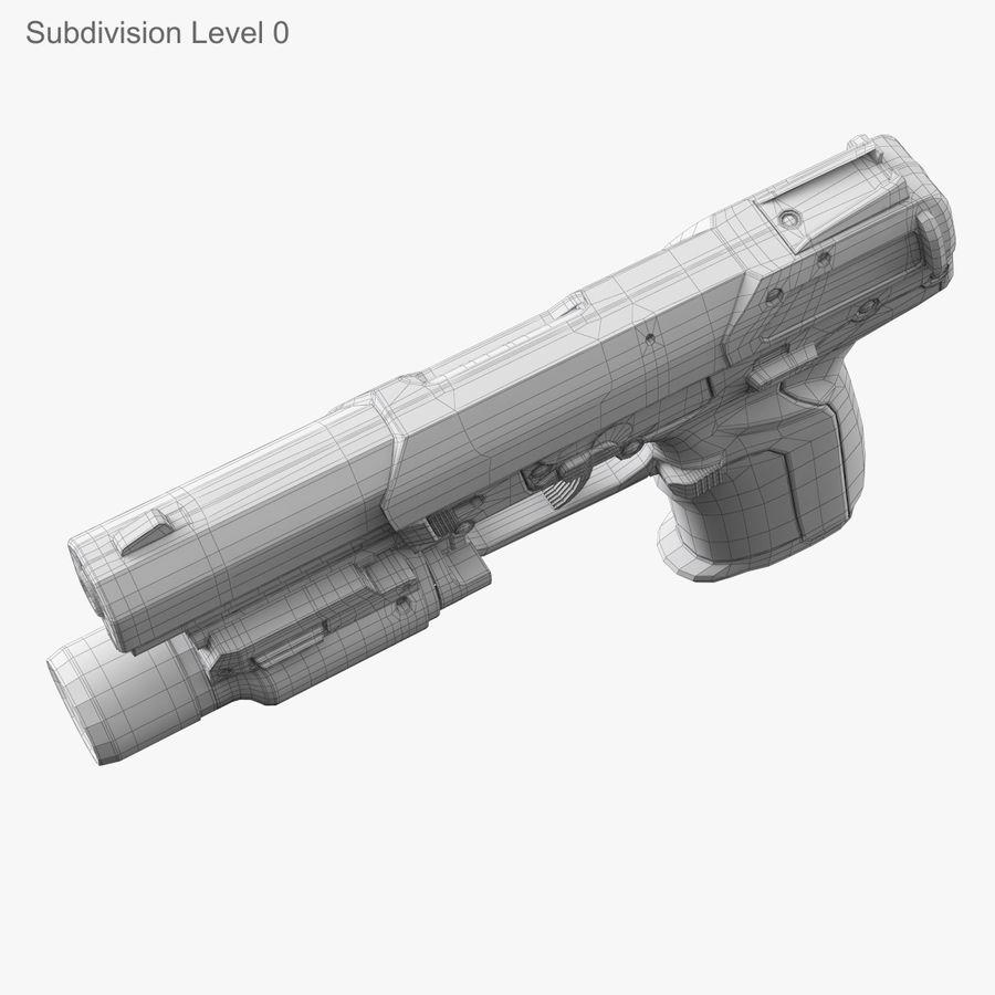 Пистолет FN Five-seveN royalty-free 3d model - Preview no. 15