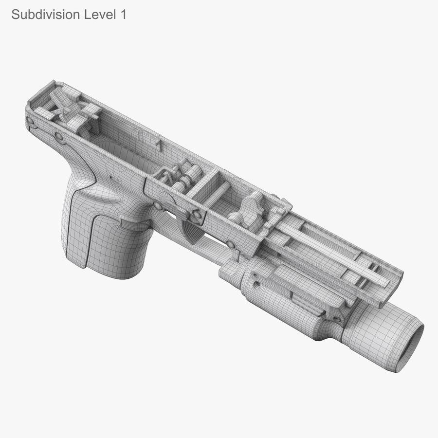 Пистолет FN Five-seveN royalty-free 3d model - Preview no. 27