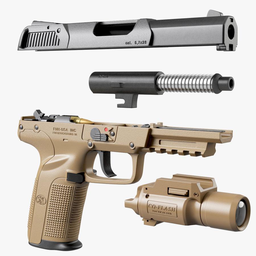 Пистолет FN Five-seveN royalty-free 3d model - Preview no. 4
