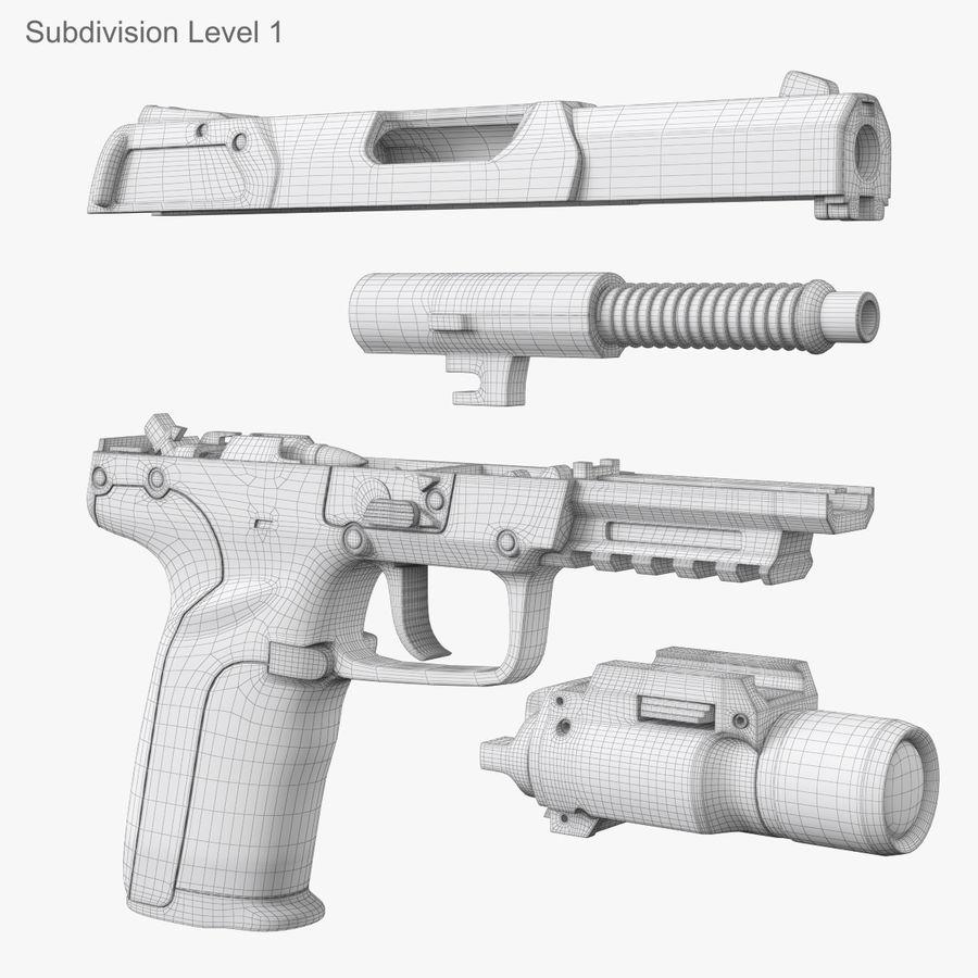 Пистолет FN Five-seveN royalty-free 3d model - Preview no. 26