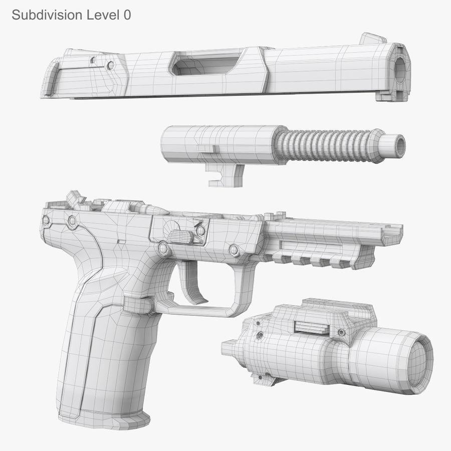 Пистолет FN Five-seveN royalty-free 3d model - Preview no. 18