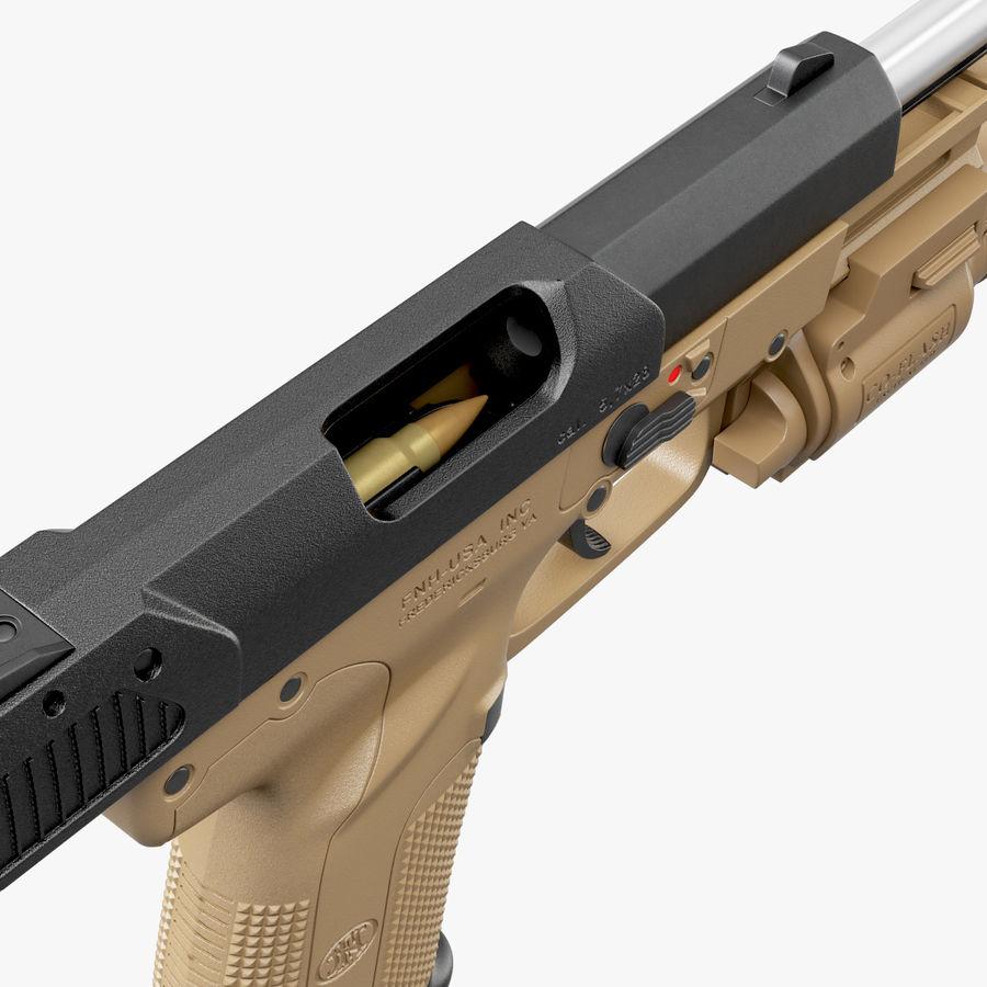 Пистолет FN Five-seveN royalty-free 3d model - Preview no. 7