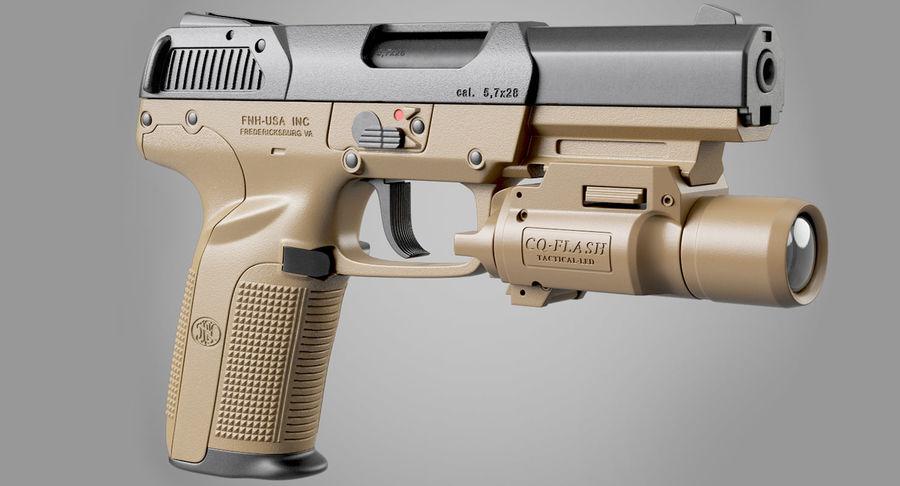 Пистолет FN Five-seveN royalty-free 3d model - Preview no. 3