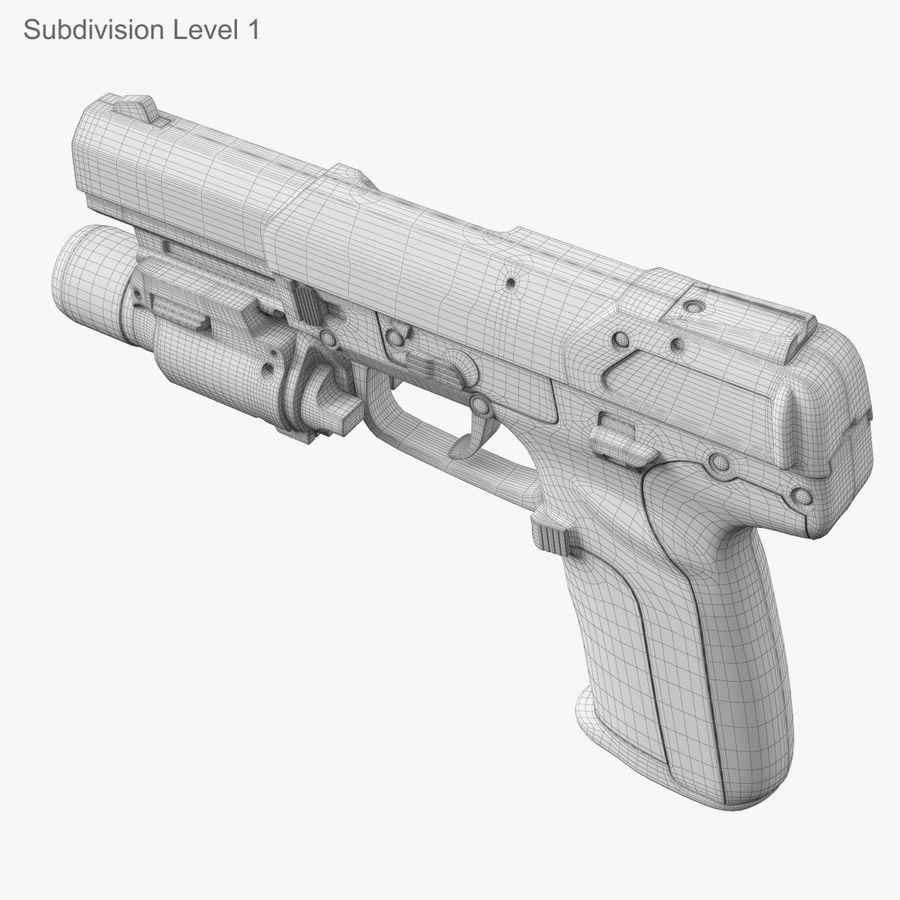 Пистолет FN Five-seveN royalty-free 3d model - Preview no. 25