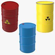 Three Barrels Collection 3d model