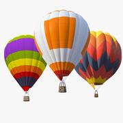 Luchtballon Set 3d model