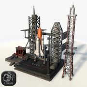 Launch Complex low poly 3d model
