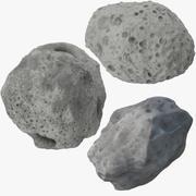 3 Asteroids 3d model
