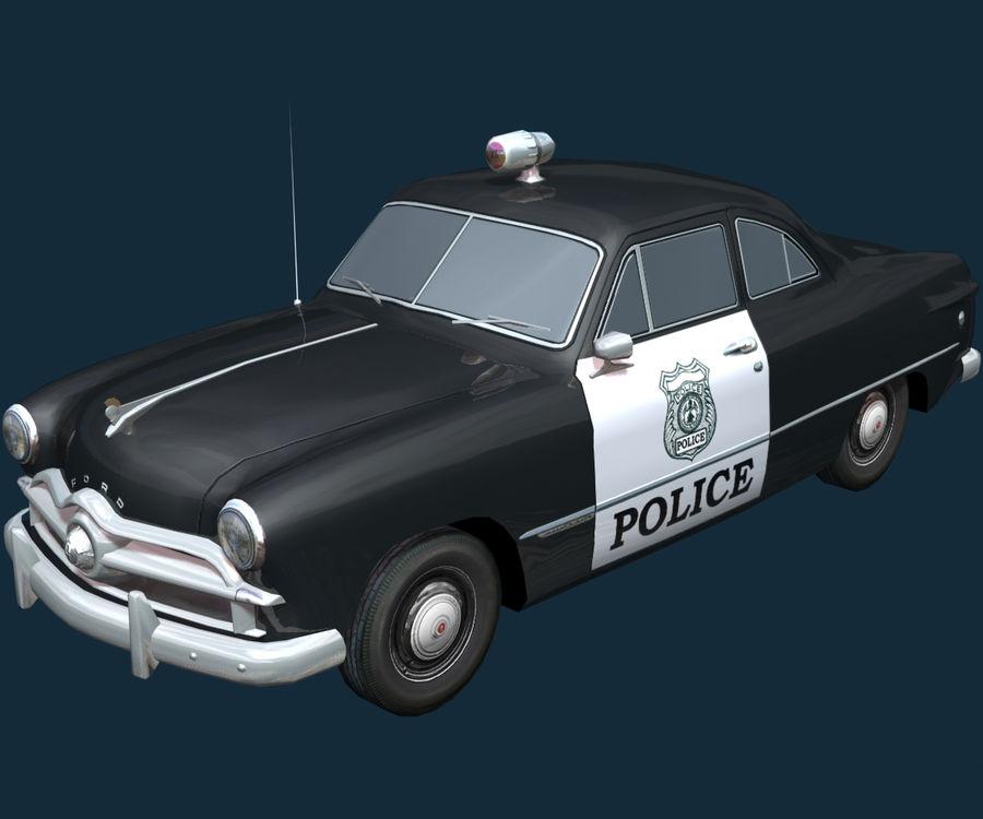 Låg Poly Retro polisbil royalty-free 3d model - Preview no. 22