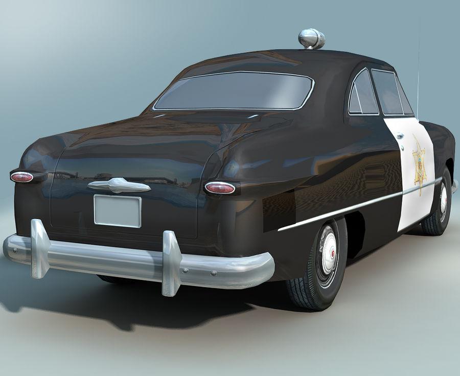 Låg Poly Retro polisbil royalty-free 3d model - Preview no. 3