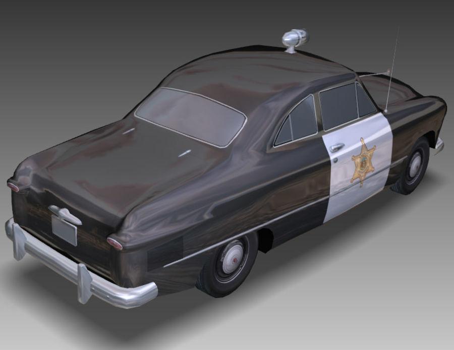 Låg Poly Retro polisbil royalty-free 3d model - Preview no. 20