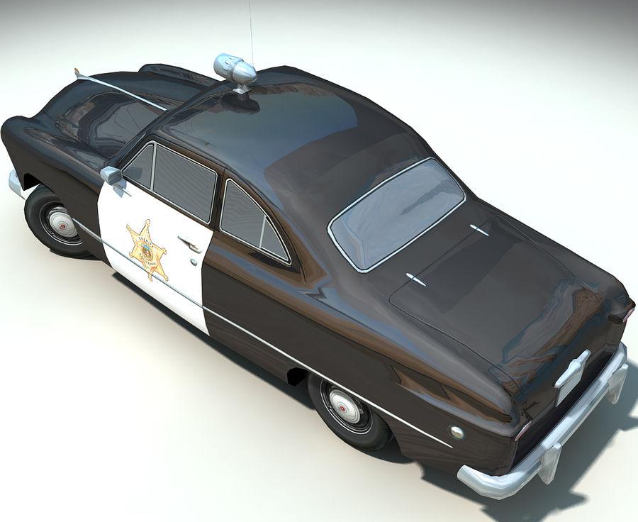 Låg Poly Retro polisbil royalty-free 3d model - Preview no. 13