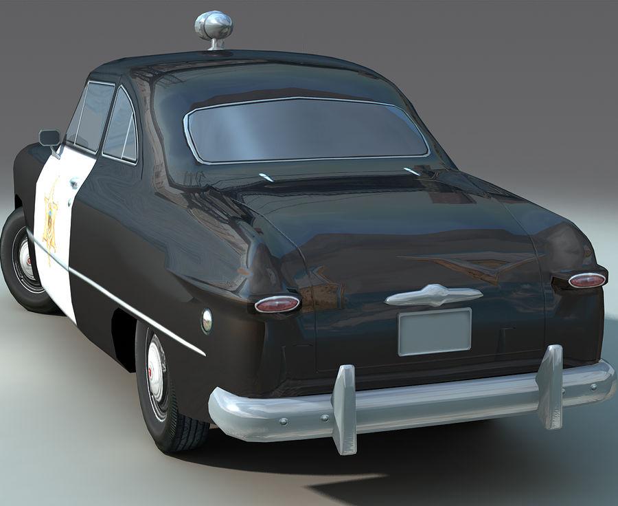 Låg Poly Retro polisbil royalty-free 3d model - Preview no. 11