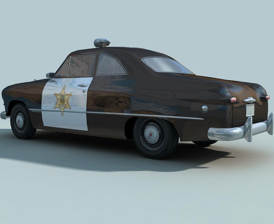 Låg Poly Retro polisbil royalty-free 3d model - Preview no. 8