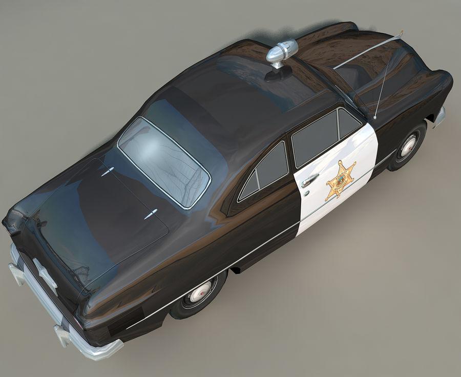 Låg Poly Retro polisbil royalty-free 3d model - Preview no. 7
