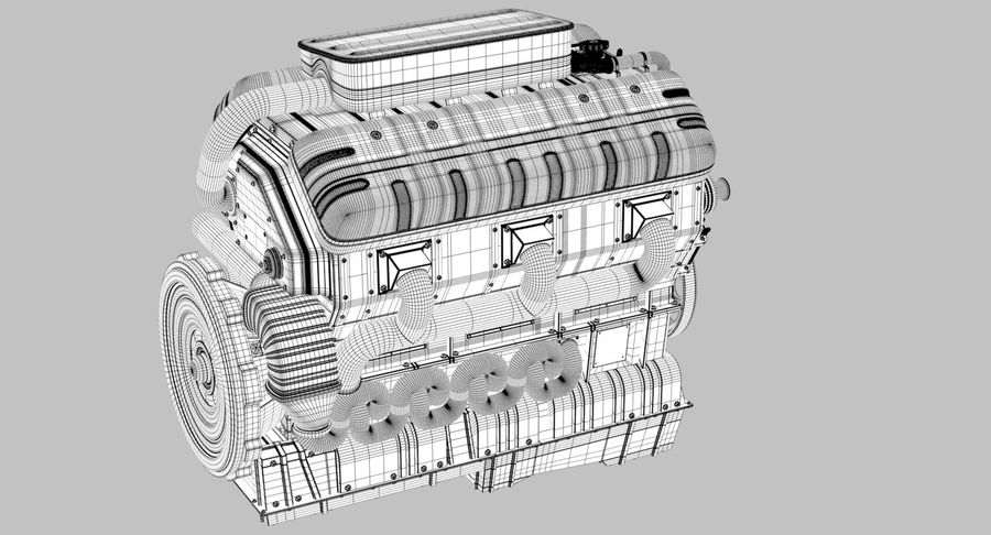 Car Engine royalty-free 3d model - Preview no. 25