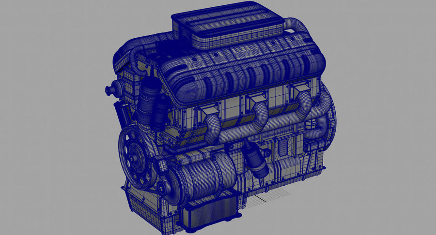 Car Engine royalty-free 3d model - Preview no. 43