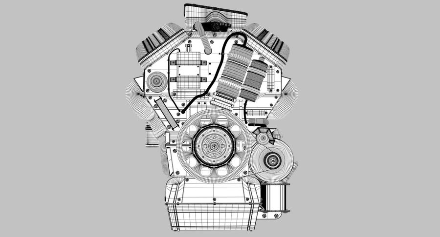 Car Engine royalty-free 3d model - Preview no. 32