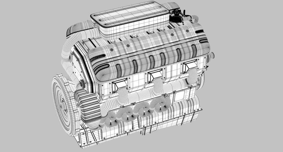 Car Engine royalty-free 3d model - Preview no. 37