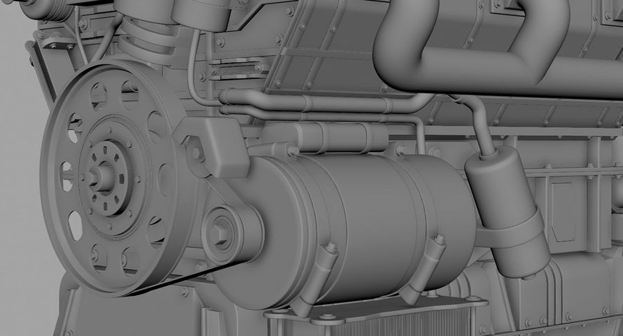 Car Engine royalty-free 3d model - Preview no. 42
