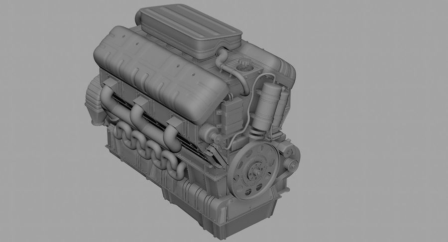 Car Engine royalty-free 3d model - Preview no. 41