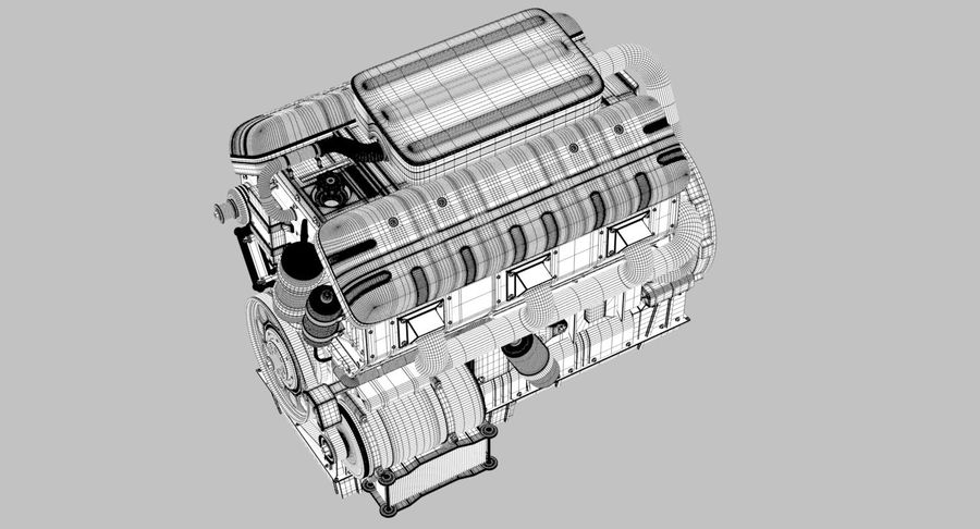 Car Engine royalty-free 3d model - Preview no. 23