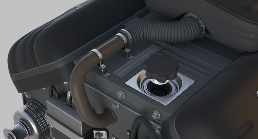 Car Engine royalty-free 3d model - Preview no. 14