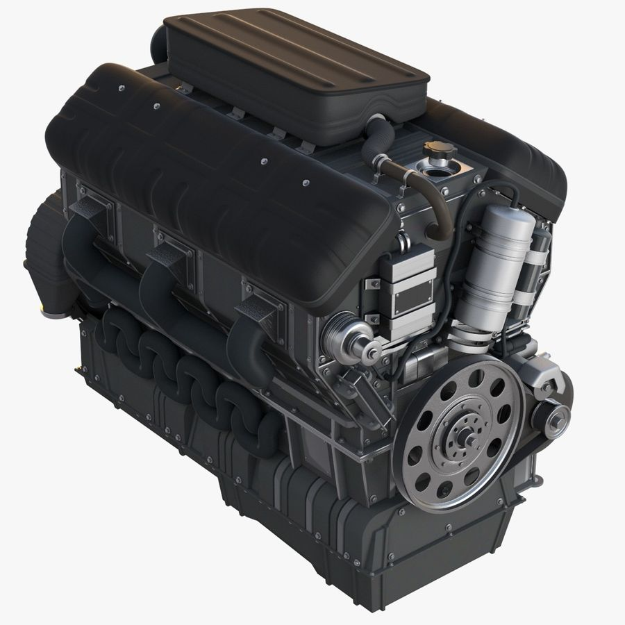 Car Engine royalty-free 3d model - Preview no. 1