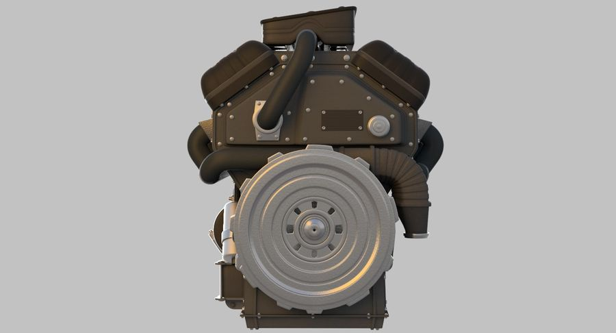 Car Engine royalty-free 3d model - Preview no. 12
