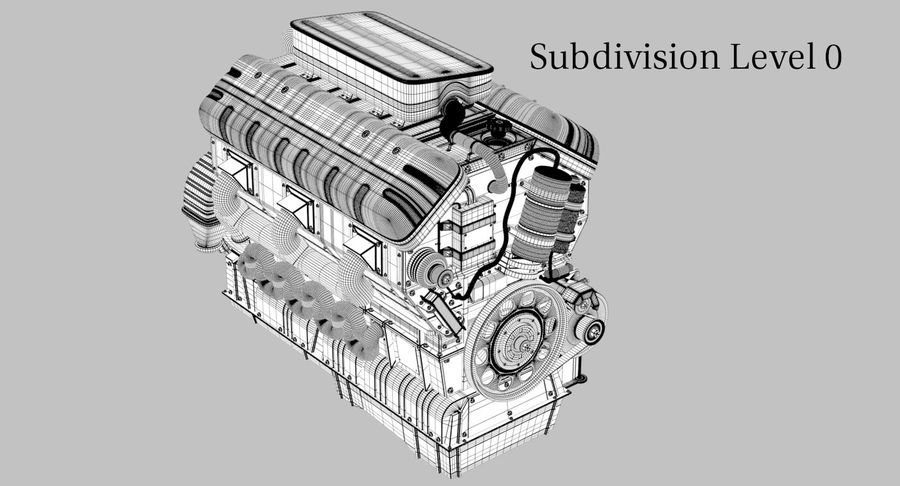 Car Engine royalty-free 3d model - Preview no. 21