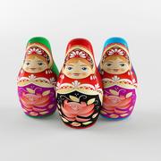 Russian dolls toy 3d model