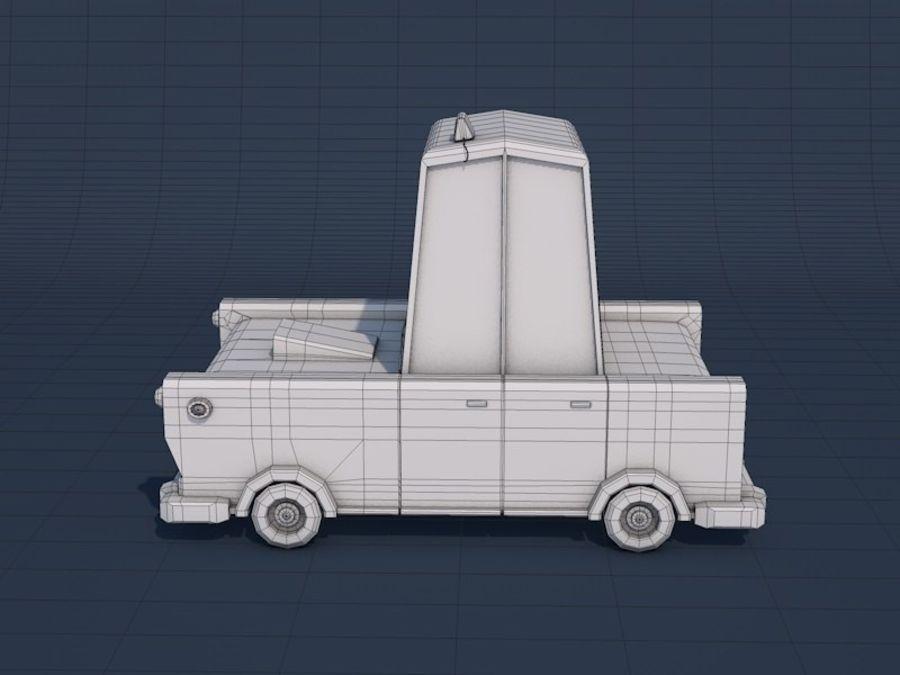低ポリタクシー車 royalty-free 3d model - Preview no. 10